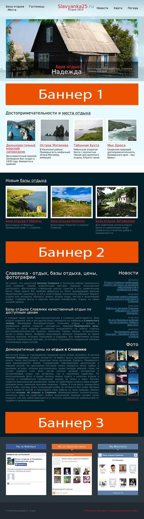 схема размещения рекламы на сайте slavyanka25.ru  height=
